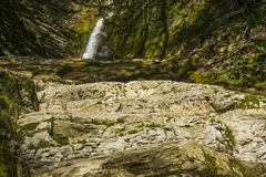 Free Russia. Sochi. Mountain River And Waterfall Stock Photography - 116622502