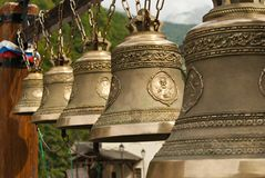 Bells in the Orthodox bell gable Stock Photography