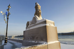 Russia Sphinx Monuments Stock Photo