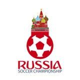 Russia. Sport, football. Vector illustration. Soccer championship. Royalty Free Stock Photo