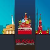 Russia. Sport, football. Vector illustration. Soccer championship. Stock Images