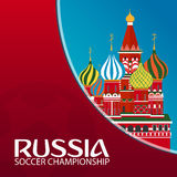 Russia. Sport, football. Vector illustration. Soccer championship. Royalty Free Stock Images