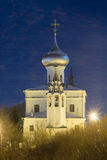 Russia. St. Andrew`s Church in Vologda night. Russia. St. Andrew`s Church in Vologda at winter night Stock Photo