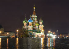 Russia. St. Basil's Cathedral. The Holy virgin protection Cathedral, or St. Basil's Cathedral is a remarkable monument of Russian architecture Stock Images