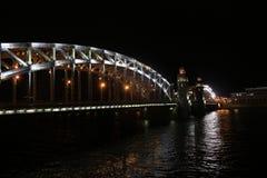Russia, St. Petersburg, Bolsheokhtinsky bridge Royalty Free Stock Images