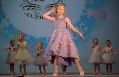 Russia, St. Petersburg 01,06,2019 Charitable XVII Festival of Children`s Creativity. Russia, St. Petersburg 01,06,2019 Children in dresses, fashion show stock photos