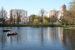 Russia. St-Petersburg city. Park in spring Royalty Free Stock Image