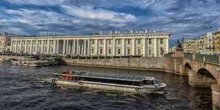 Russia, St. Petersburg, 22,09,2017  Embankment of the river of t Stock Image