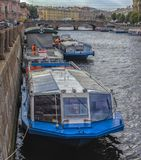 Russia, St. Petersburg, 22,09,2017  Embankment of the river of t Stock Photography
