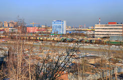 Russia, St. Petersburg, an industrial area north of the city. Royalty Free Stock Image