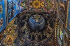 Interior of the Church of the Savior on Spilled Blood. Russia, St. Petersburg, 23,09,2017 Interior of the Church of the Savior on Spilled Blood Royalty Free Stock Image