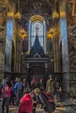 Interior of the Church of the Savior on Spilled Blood. Russia, St. Petersburg, 23,09,2017 Interior of the Church of the Savior on Spilled Blood Royalty Free Stock Photo