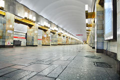 Russia, St. Petersburg, interior metro station Royalty Free Stock Photography