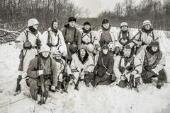 Russia St. Petersburg. January 25, 2015.Group photo of soldiers Stock Photography