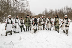 Russia St. Petersburg. January 25, 2015.Group photo of soldiers Royalty Free Stock Photos