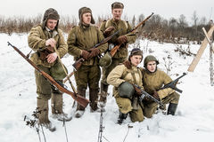 Russia St. Petersburg. January 25, 2015.Group photo of Soldiers Royalty Free Stock Image