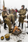 Russia St. Petersburg. January 25, 2015. Soldiers of the Soviet Stock Photos