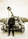 Russia St. Petersburg. January 25, 2015.Wehrmacht tankman. styli Stock Image