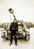 Russia St. Petersburg. January 25, 2015.Wehrmacht tankman. styli Stock Image