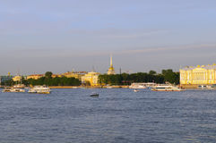 Russia, St. Petersburg, Neva river, Royalty Free Stock Photo