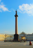 Russia, St.Petersburg, Palace Square. Alexander column and General Staff Building Royalty Free Stock Photo