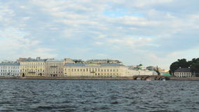 Russia St. Petersburg panorama of the city from the river Neva. Russia St. Petersburg panorama the city from the river Neva stock footage
