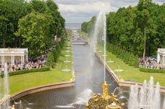 RUSSIA, ST. PETERSBURG, PETERHOF Royalty Free Stock Images
