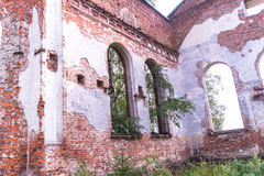 Russia, St. Petersburg, Priozersk, August 2016: Picturesque ruins Stock Images