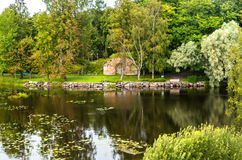 Russia, St. Petersburg, Priozersk, August 2016: Scenic landscape in the territory Korela Fortress Museum Royalty Free Stock Image
