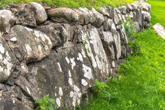 Russia, St. Petersburg, Priozersk, August 2016: Stone wall fencing Royalty Free Stock Photography