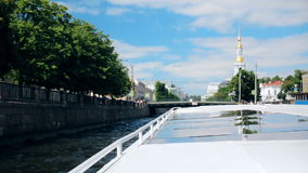 Russia St. Petersburg River first-person architecture. Russia St. Petersburg River Fontanka first-person architecture stock video footage