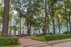 the courtyard of the Museum the Hermitage w royalty free stock photography