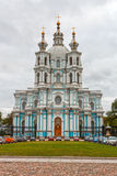Russia, St. Petersburg. Smolny Cathedral (Church of the Resurrec Royalty Free Stock Photo