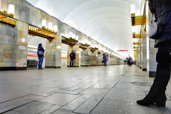 Russia, St. Petersburg, station underground metro. Stock Images