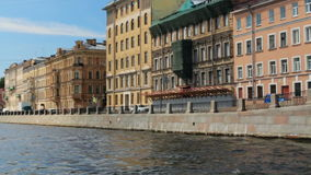 Russia St. Petersburg travel on the rivers architecture. Russia St. Petersburg travel rivers architecture stock video