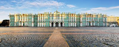 Russia - St. Petersburg, Winter Palace - Hermitage at day, nobod royalty free stock photography