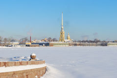 Russia. St. Petersburg in winter Royalty Free Stock Photo