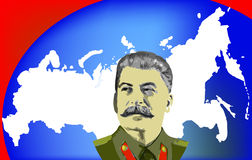 Russia & Stalin vector illustration