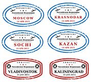 Russia stamps Royalty Free Stock Photography