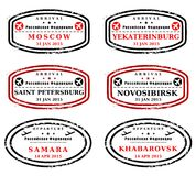 Russia stamps Royalty Free Stock Photo