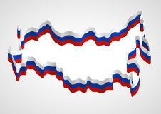 Russia, stylized map and flag Stock Photography