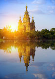 Russia, suburb of Saint Petersburg, the St. Peter and Paul Cathedral Stock Photos