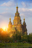 Russia, suburb of Saint Petersburg, the St. Peter and Paul Cathedral Royalty Free Stock Photos