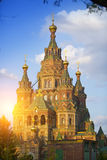 Russia, suburb of Saint Petersburg, the St. Peter and Paul Cathedral Royalty Free Stock Image
