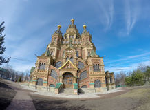 Russia, suburb of Saint Petersburg, the St. Peter and Paul Cathedral. Stock Photography