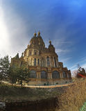 Russia, suburb of Saint Petersburg, the St. Peter and Paul Church. Stock Photography