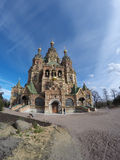 Russia, suburb of Saint Petersburg, the St. Peter and Paul Church. Royalty Free Stock Photos