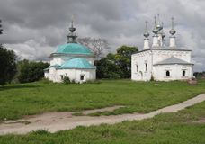 Russia. Suzdal. Travels. Russia. Suzdal. Tow church royalty free stock image