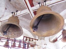 Russia, Suzdal, bell tower, two bells royalty free stock photo