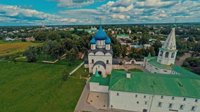 Russia, Suzdal, the Kremlin, shooting (air) stock video footage